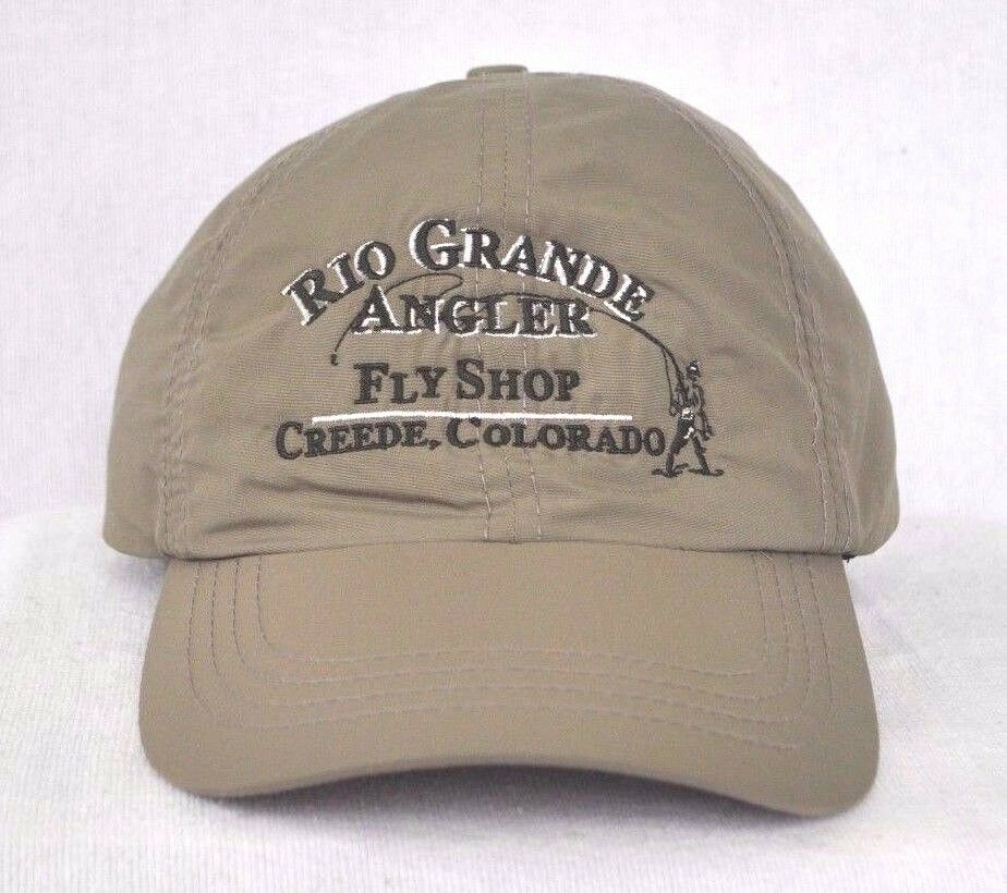 Rio grande river fly shop colorado fly fishing nylon for Fly fishing cap