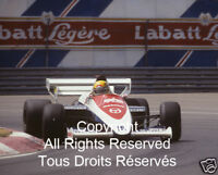 Toleman-Hart Ayrton Senna 1984 F1 Formula One Photo #1