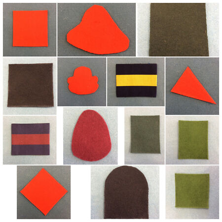 img-British Army Beret Patches Beret Flash Guards Patch PWRR Beret Flash Anglians