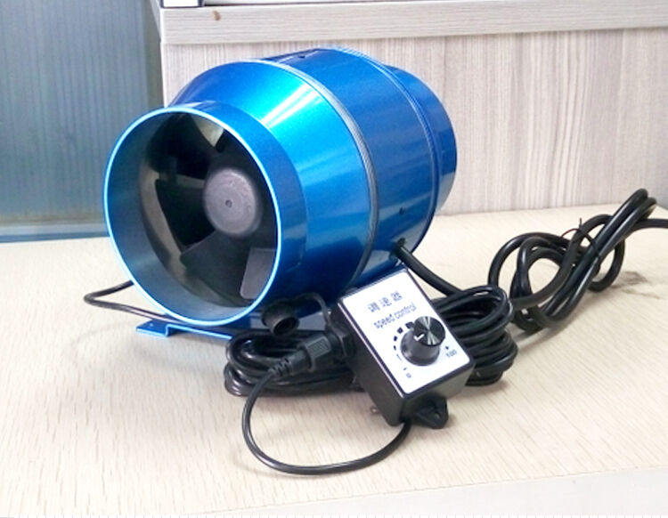 4 Quot Inline Duct Fan W Speed Controller 4 Inch 115 230v