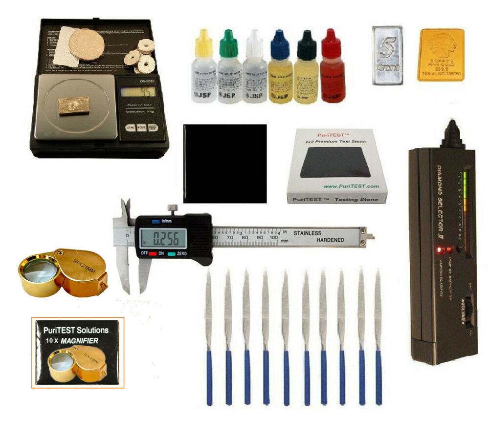 Gold Tester Kit : Gold acid testing kit electronic diamond tester oz digital