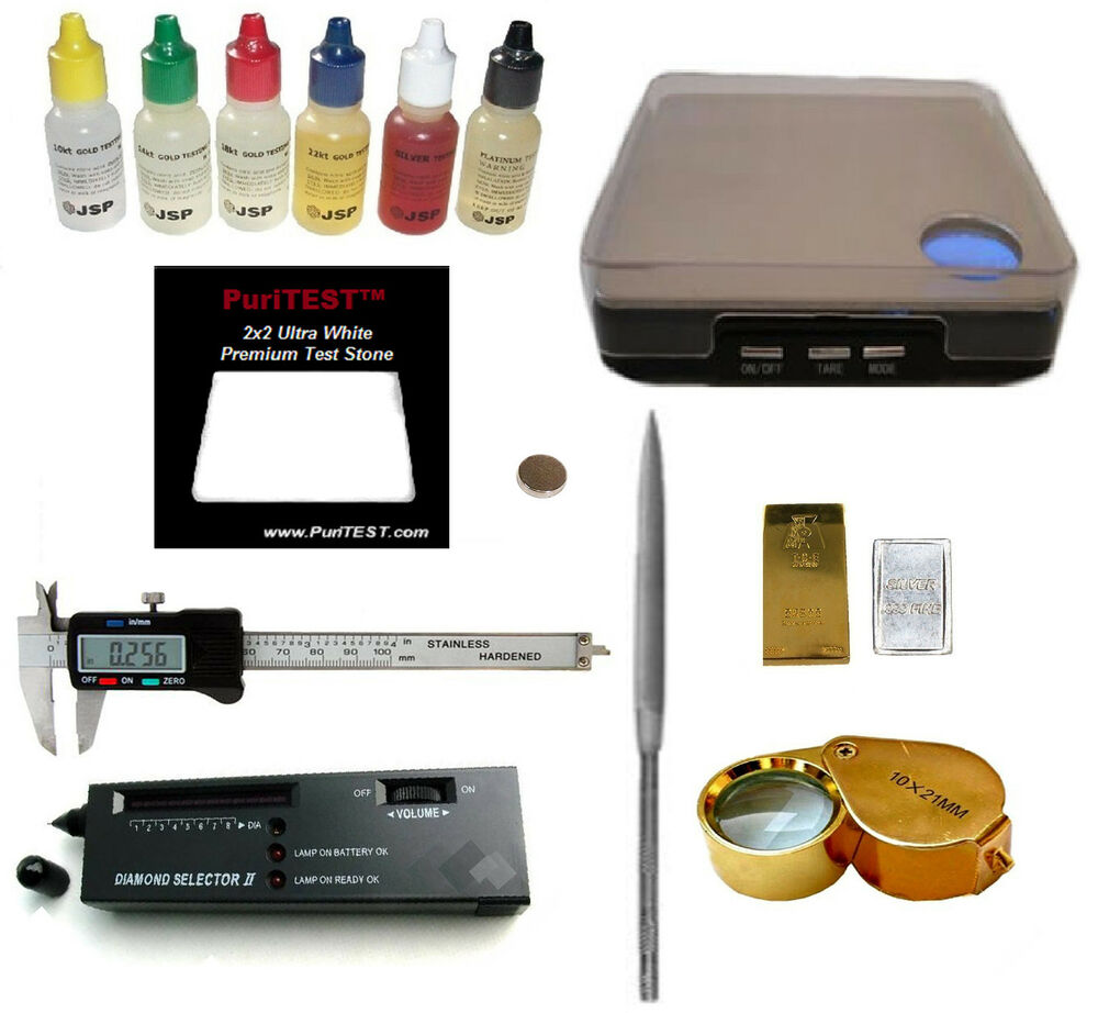 Best Electronic Tester Jewelry : Gold silver test kit digital scale electronic diamond