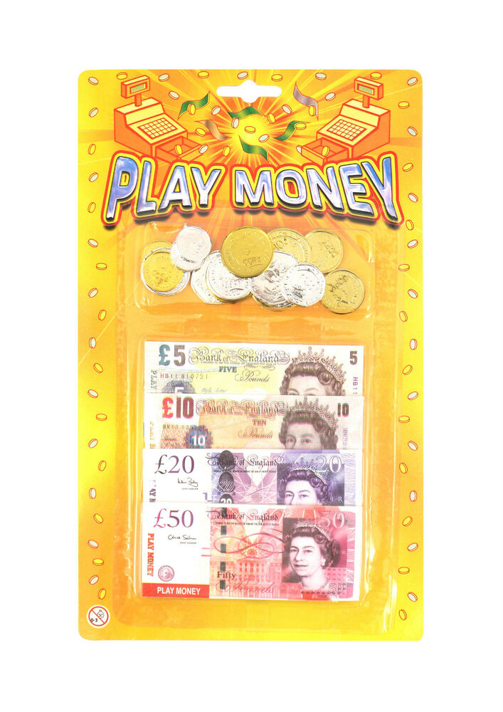Play Money Toy : Peterkin sterling toy play money set ebay