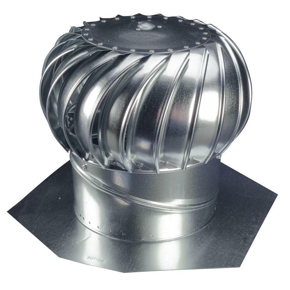 Turbine Roof Ventilators : Whirlybird attic steel wind turbine roof vent exhaust