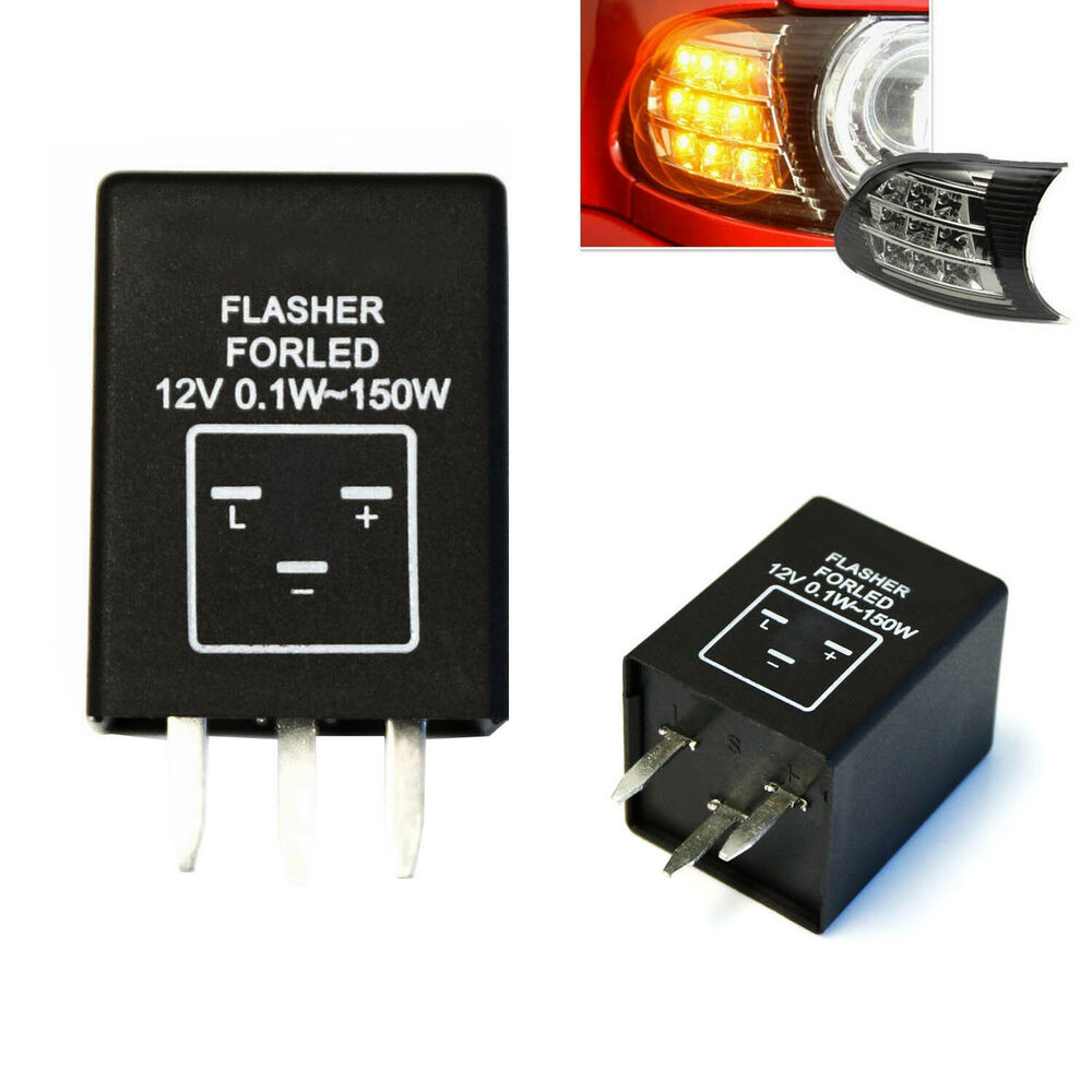 3 pin ep28 electronic led flasher relay fix turn signal. Black Bedroom Furniture Sets. Home Design Ideas