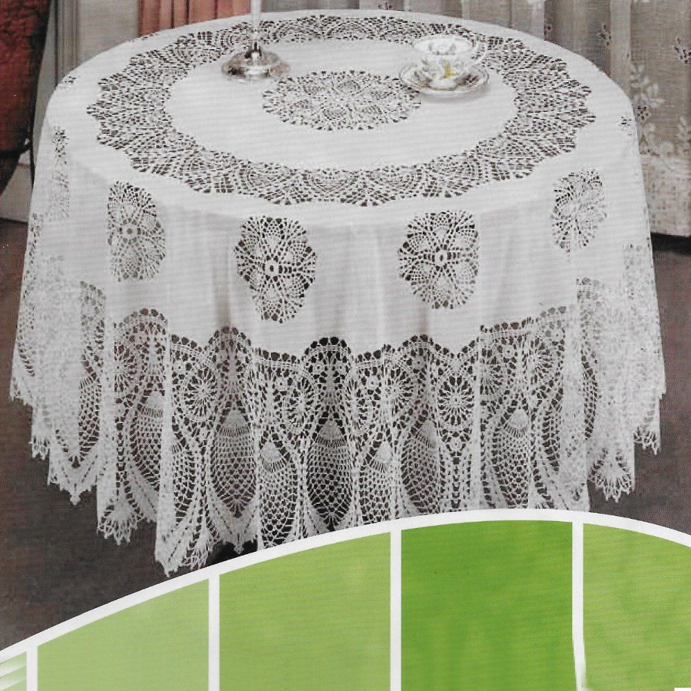 63 Quot White Table Cover Vinyl Plastic Embossed Tablecloth