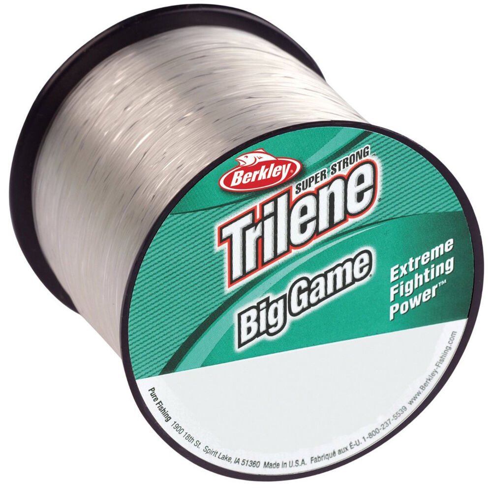 Berkley trilene big game 25 lb test fishing line 595 yds for Fishing line test