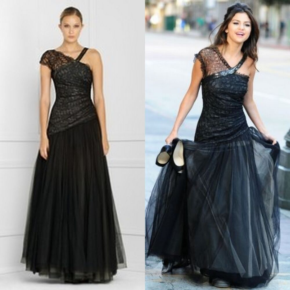 Dress Evening Gowns: BCBG Max Azria Black Lace Prom/Homecoming Dress/evening