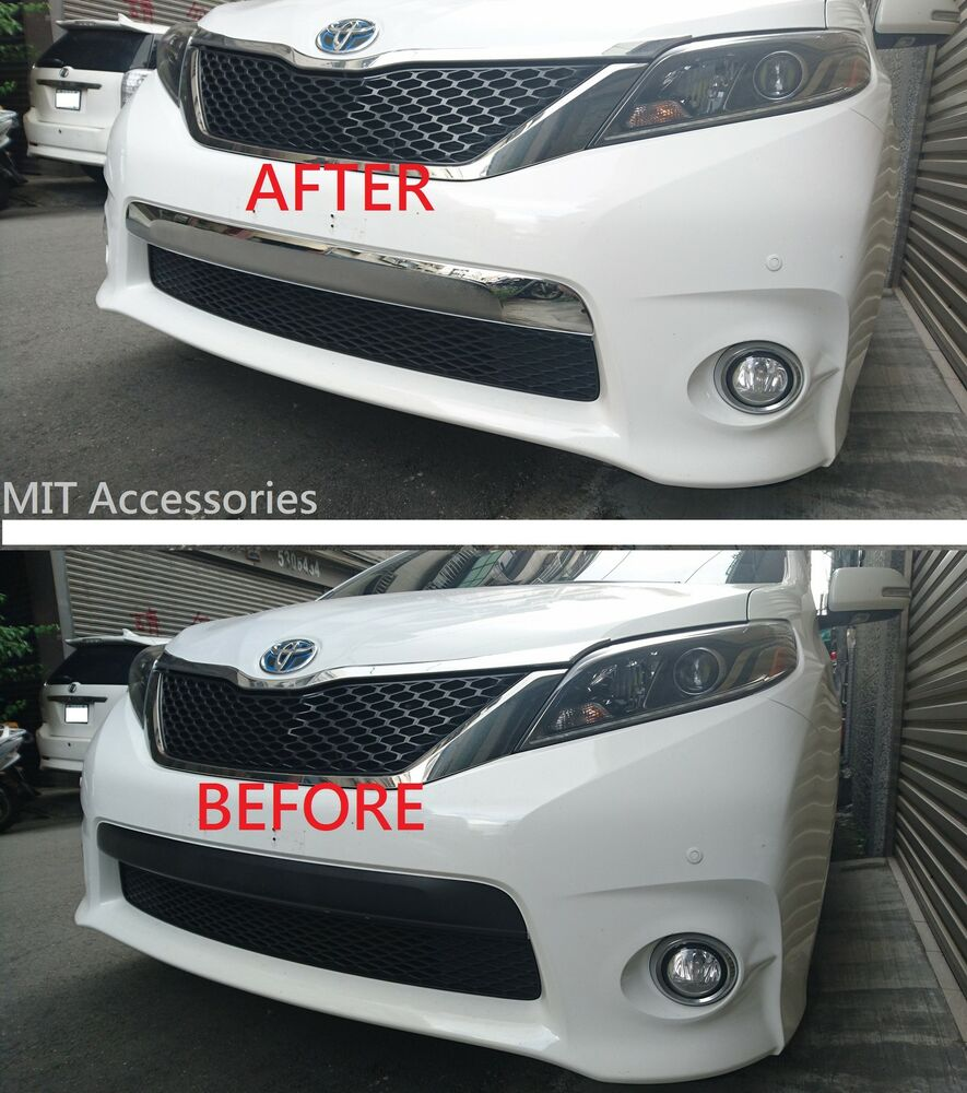 2016 Toyota Sienna Exterior: TOYOTA SIENNA 2011-2017 Front Bumper LICENSE Cover Chrome