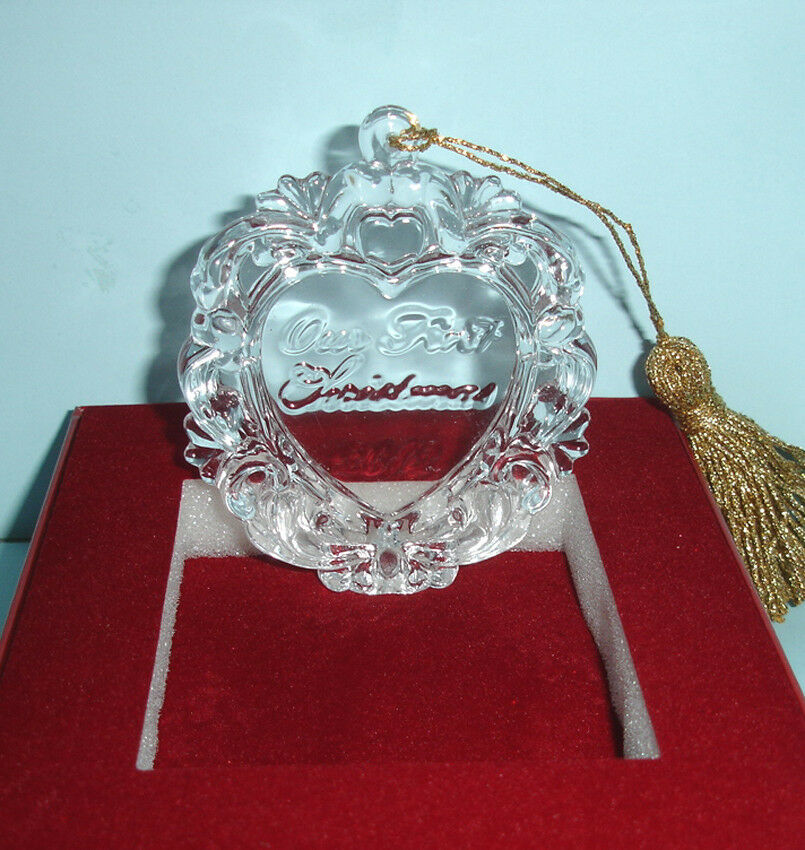 Waterford Marquis Our First Christmas Crystal Heart ...