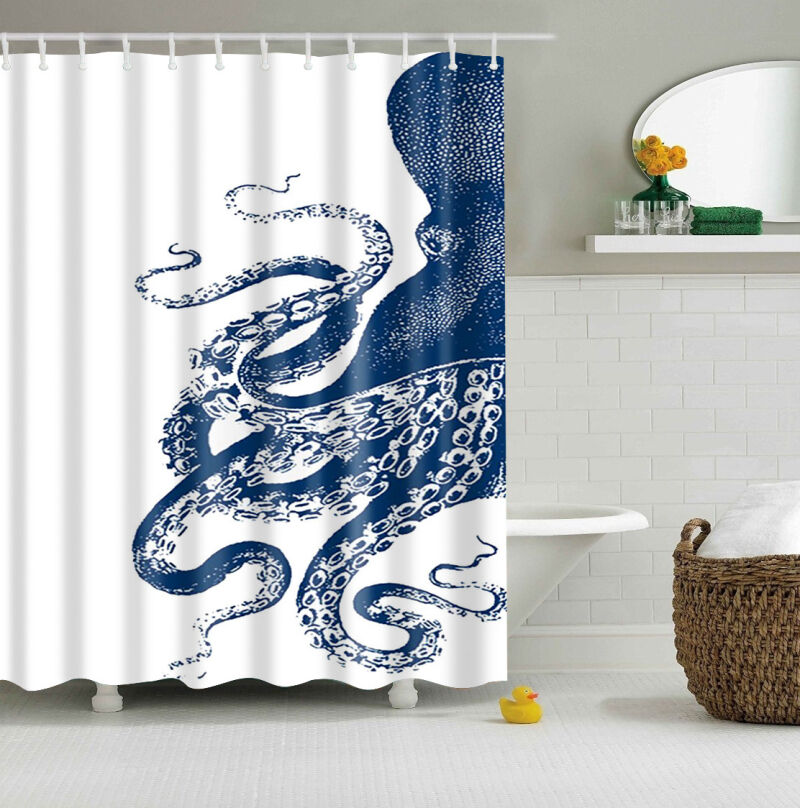 Custom Shower Curtain Octopus Kraken Design Bathroom Waterproof Fabric 60 X72 Ebay