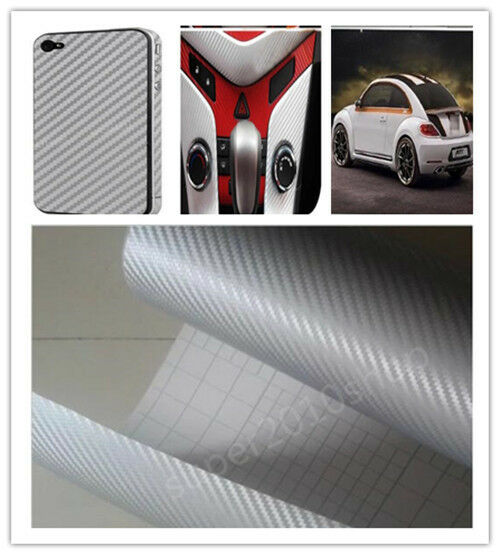 3d car accessories phone interior panel silver carbon fiber vinyl wrap sticker ebay. Black Bedroom Furniture Sets. Home Design Ideas