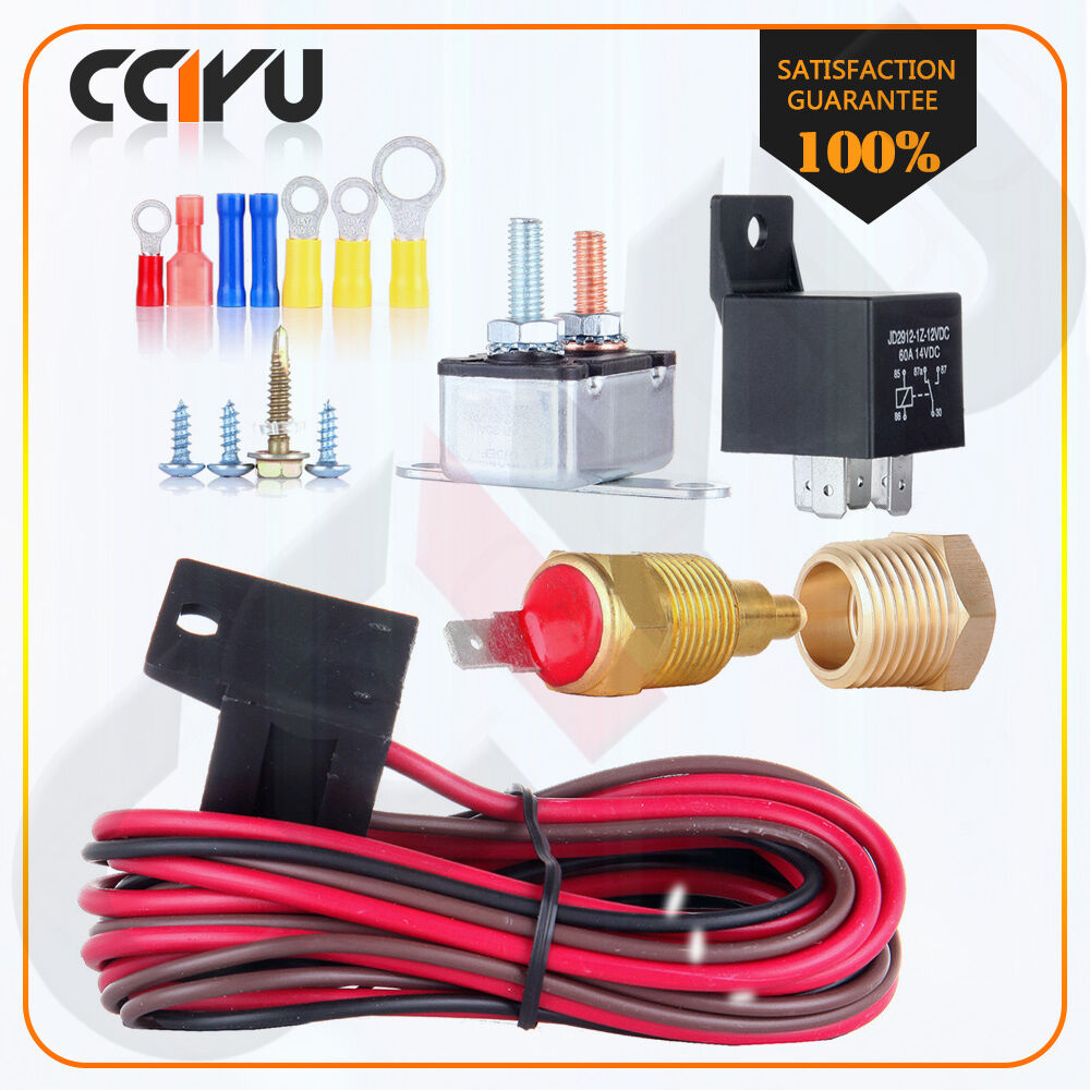 200 to 185 degree engine cooling fan thermostat temp switch sensor relay kit new ebay - Four 200 degres thermostat ...