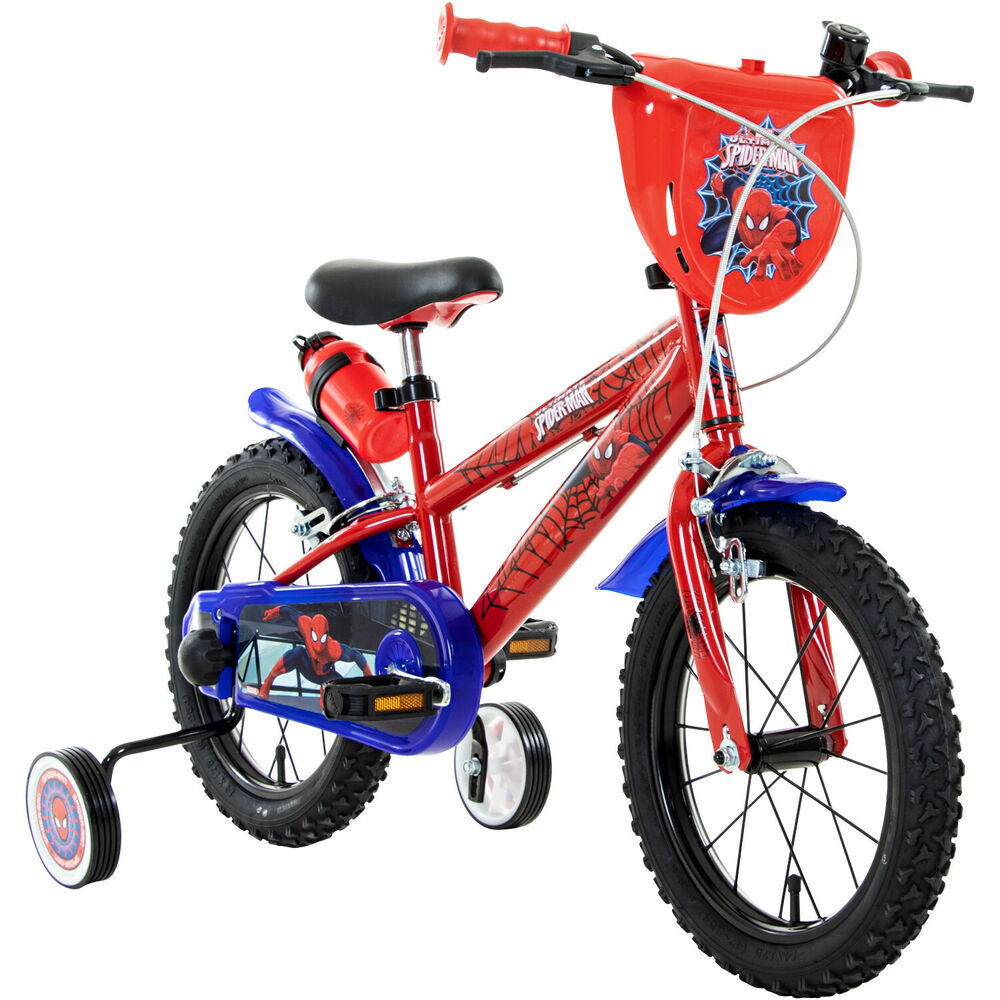 14 zoll marvel spiderman kinderfahrrad fahrrad kinder ab 3. Black Bedroom Furniture Sets. Home Design Ideas