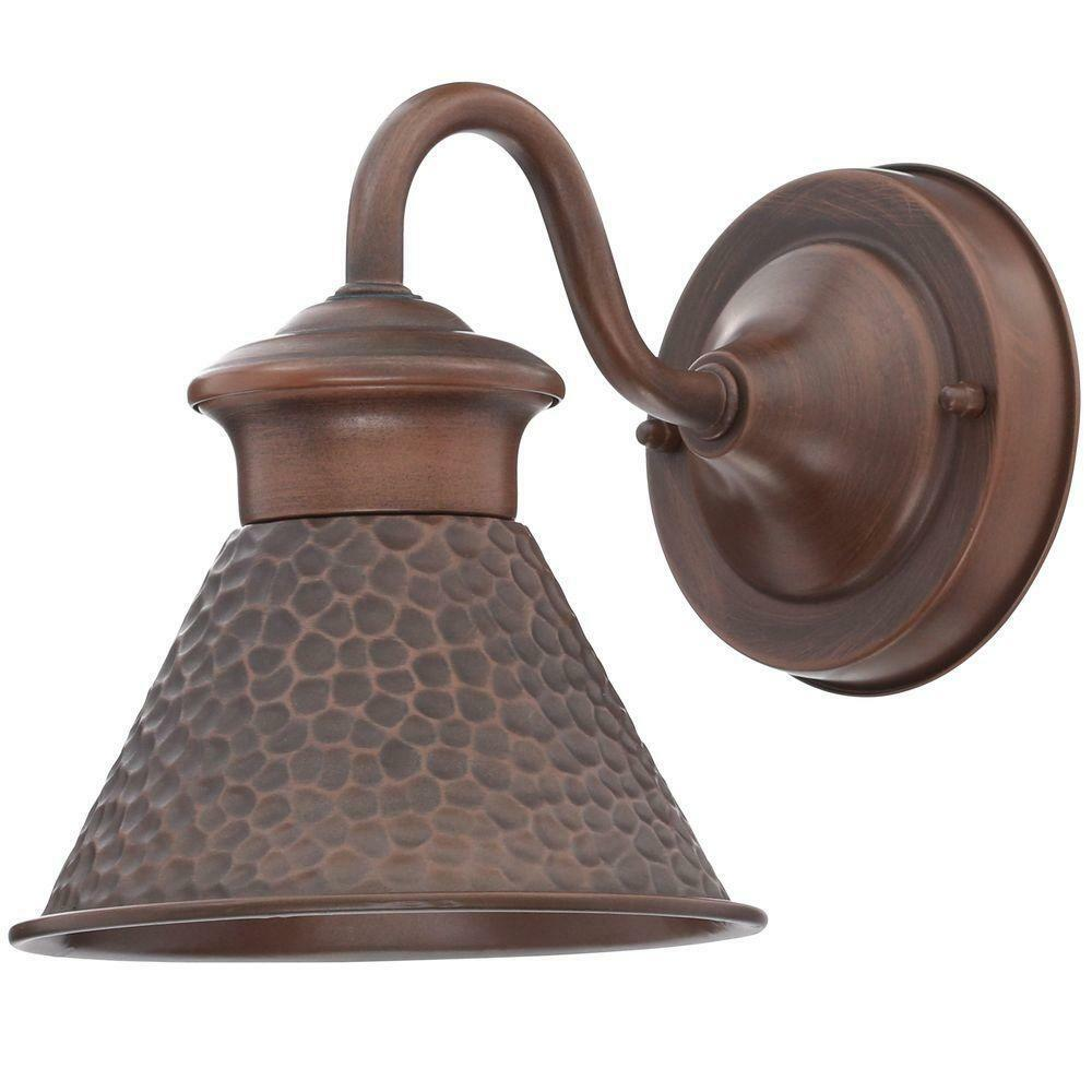 1-Light Antique Outdoor Wall Sconce Lantern Home Exterior