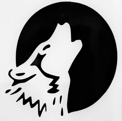 Howling Full Moon Wolf Silhouette Car Truck Window Vinyl ...