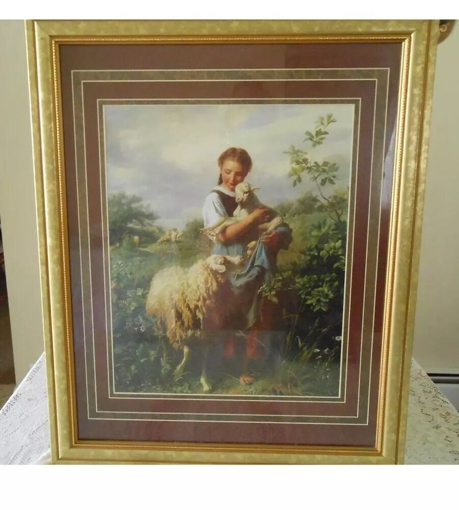 beautiful vintage quot the shepherd s daughter quot homco home