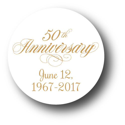 50th Wedding Anniversary Party Favor Stickers