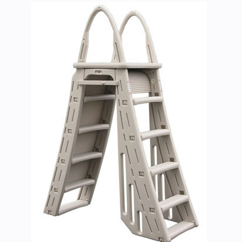 Confer Roll Guard A Frame Aboveground 48 56 Swimming Pool Safety Ladder 7200 Ebay