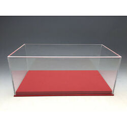New Acrylic Display case show case with Red PU leather base for 1/18 Car model