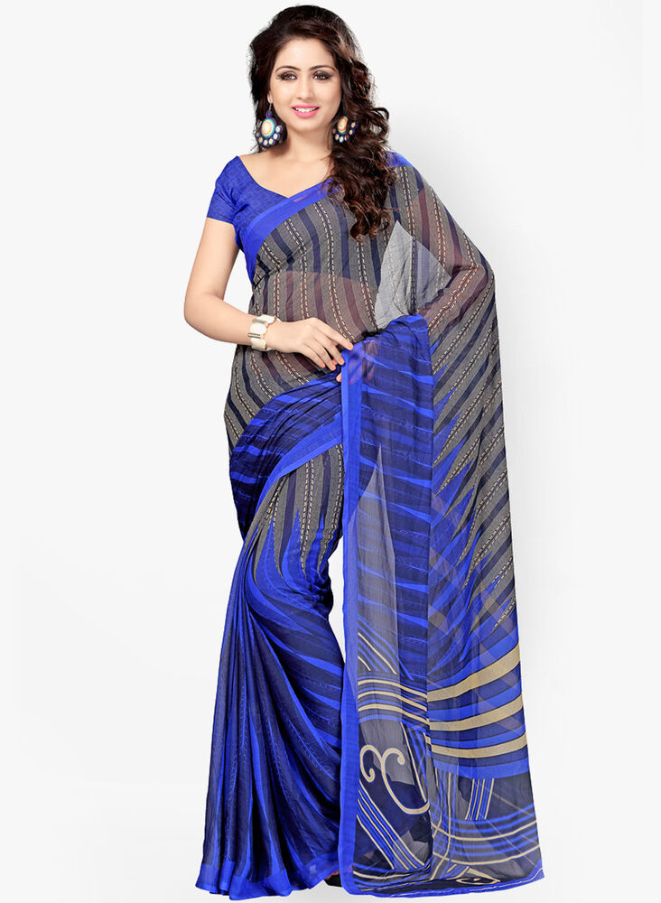 Bollywood Saree Indian Ethnic Party Wear Wedding Designer Sari With Blouse Ebay