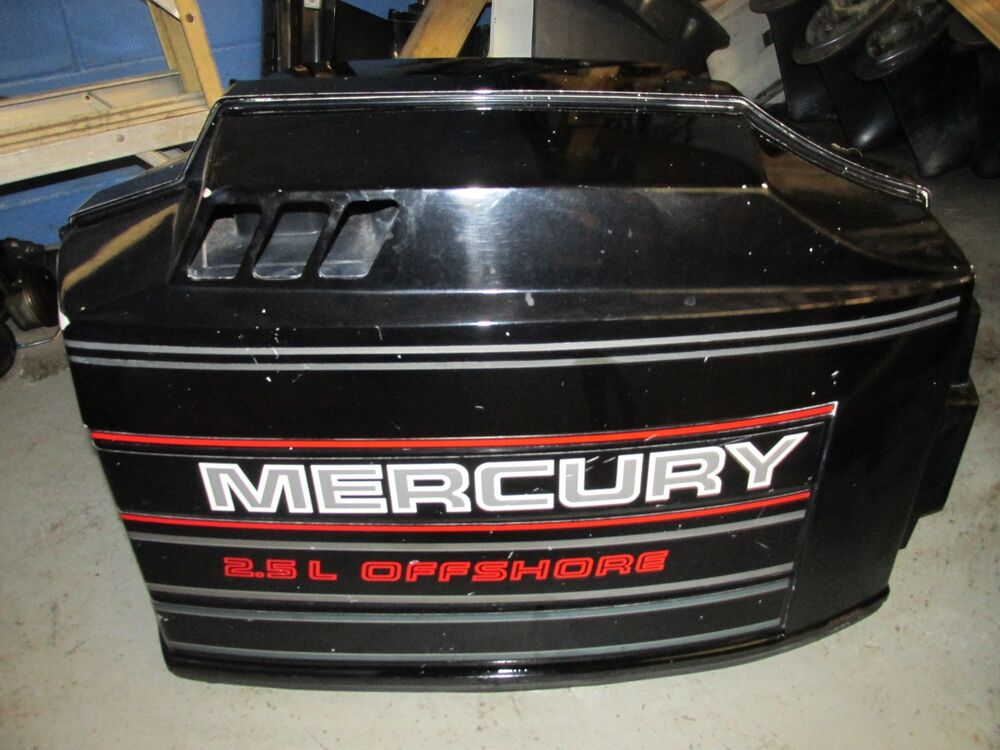 Mercury outboard 200hp 2 5l offshore top cowling ebay for Mercury outboard motor cowling