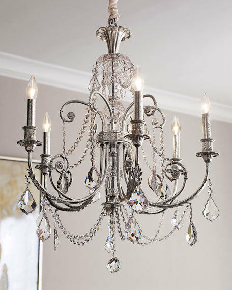 Horchow Crystal Beaded Chandelier French Farmhouse Antique