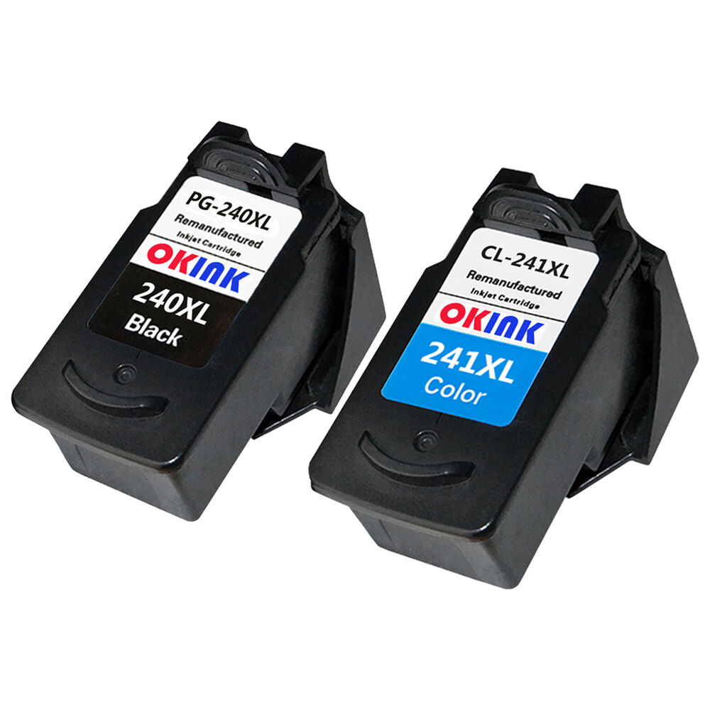 2Pack For Canon PG 240XL CL 241XL Black Tri Color Ink Cartridge PIXMA X532 MX472