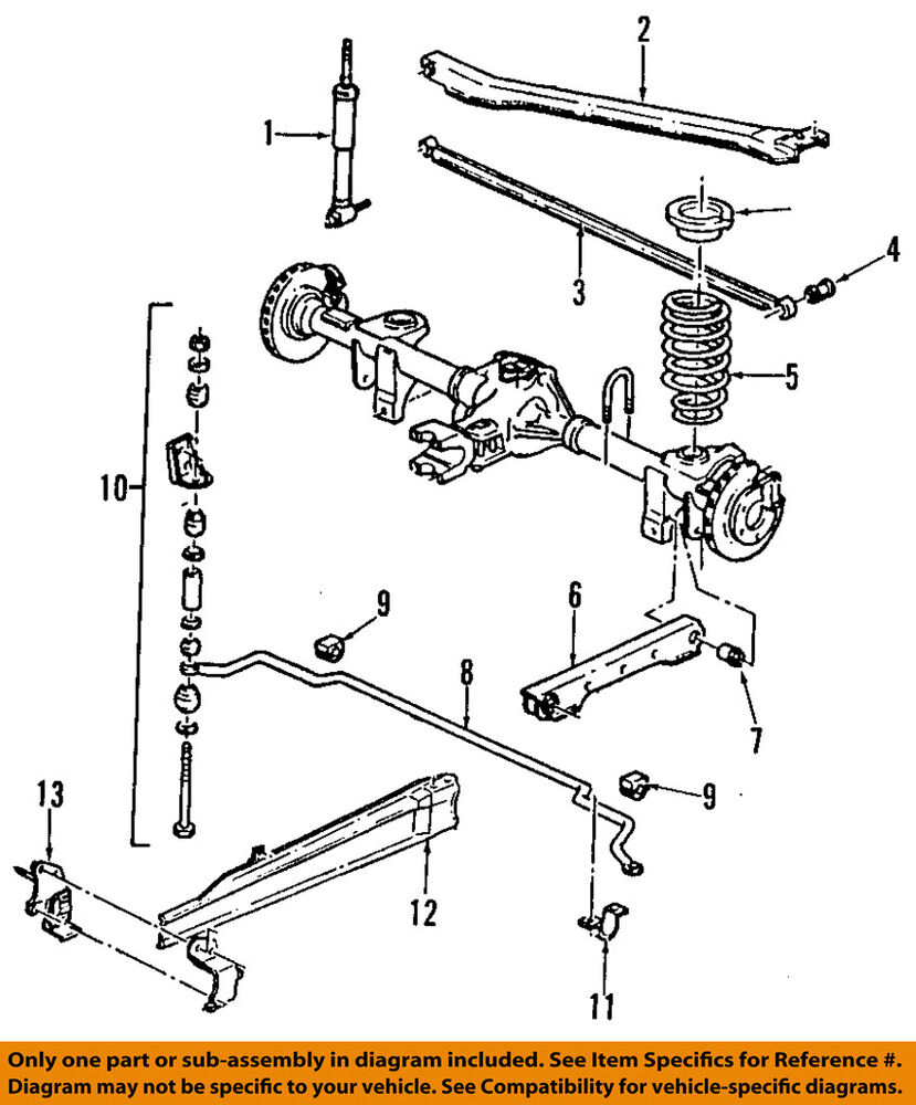 Gm Oem Rear Stabilizer Sway Bar