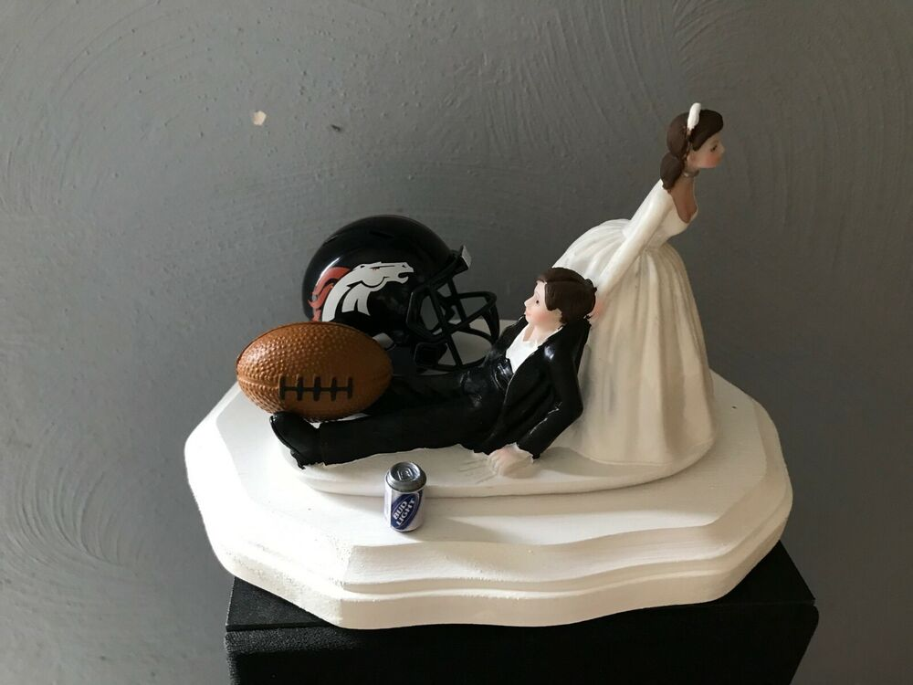 wedding cake toppers denver co denver broncos cake topper groom wedding day 26450