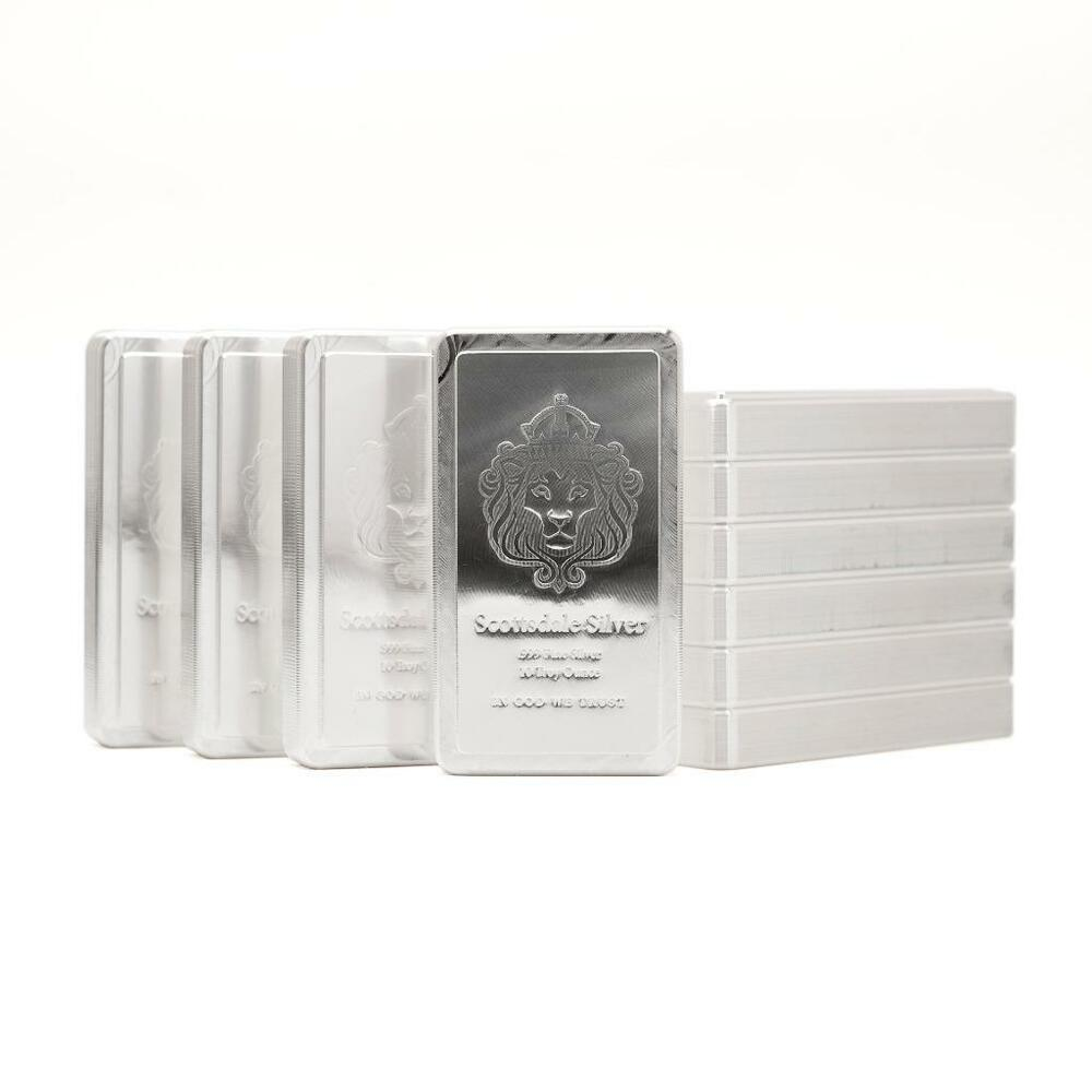 10 X 10 Oz 999 Silver Stacker 174 Bars By Scottsdale Mint
