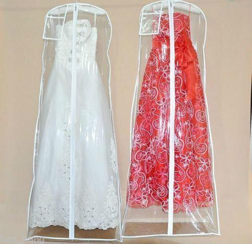 Wedding Gown Preservation Bag: Wedding Dress Anti-Dust Plastic Protector PVC Bags Proof
