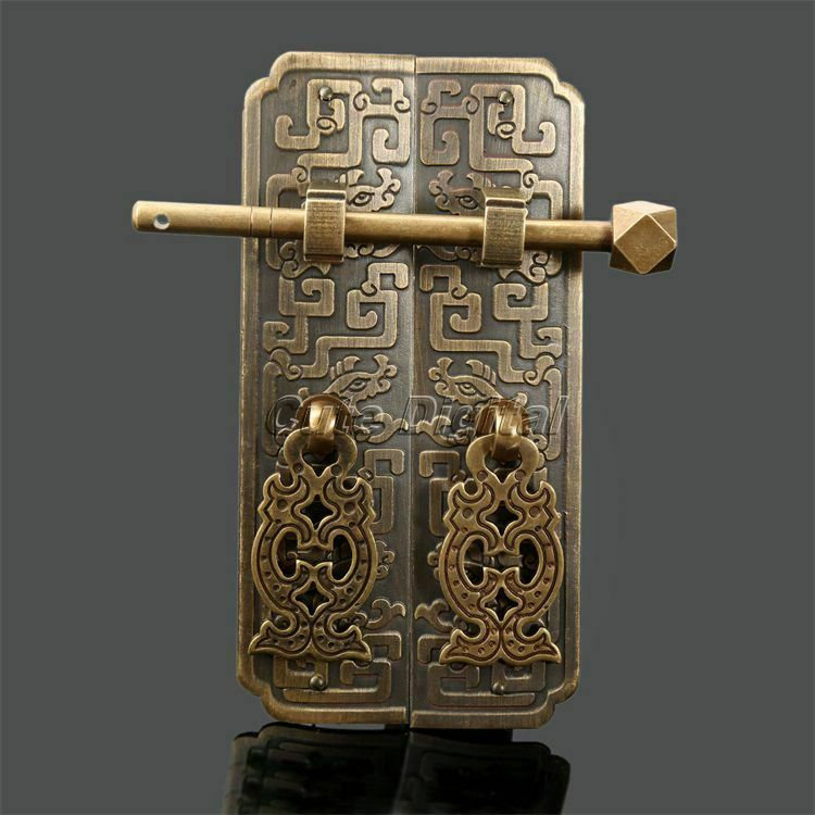 Furniture Brass Hardware Chinese Cabinet Lock Latch Door