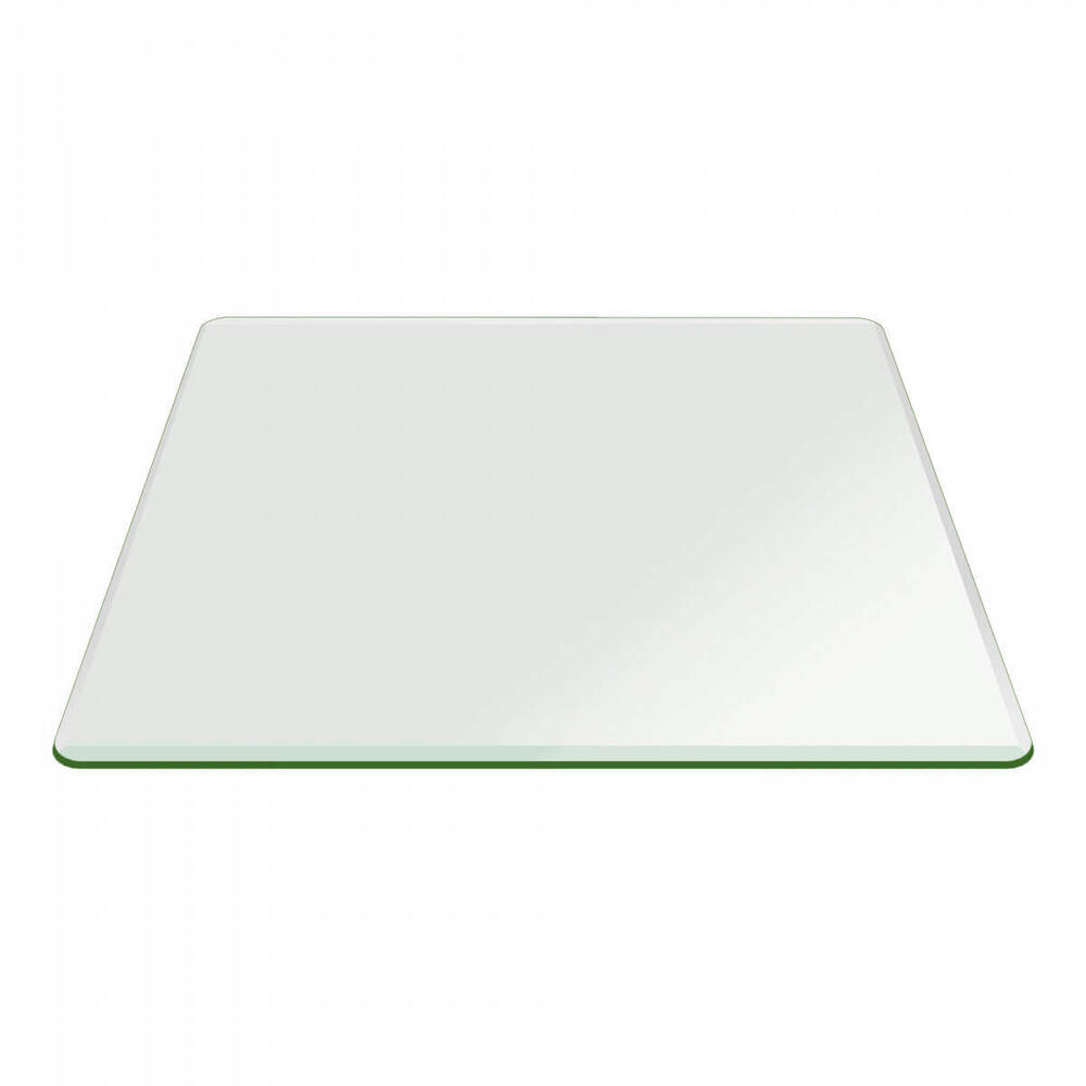 24 Quot Inch Square Glass 1 2 Quot Thick Bevel Polish Tempered