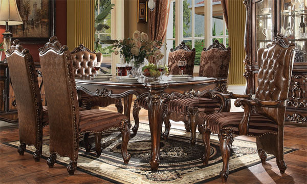 New 7pc oxford formal antique cherry oak finish wood for 7 piece dining room sets under 1000