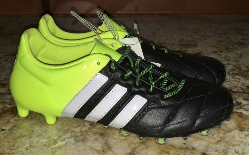 new product 79594 5999f Details about ADIDAS Ace 15.1 FG  AG Black Yellow White Soccer Cleats  Boots NEW Mens Youth 7