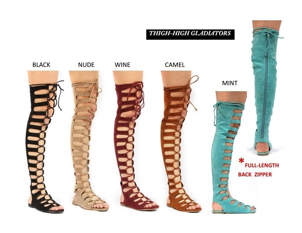 Knee High Gladiator Shoes