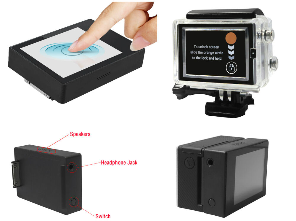 Touch Screen BacPac External Display Viewer Monitor LCD For GoPro HD Hero 3+ 4 | eBay