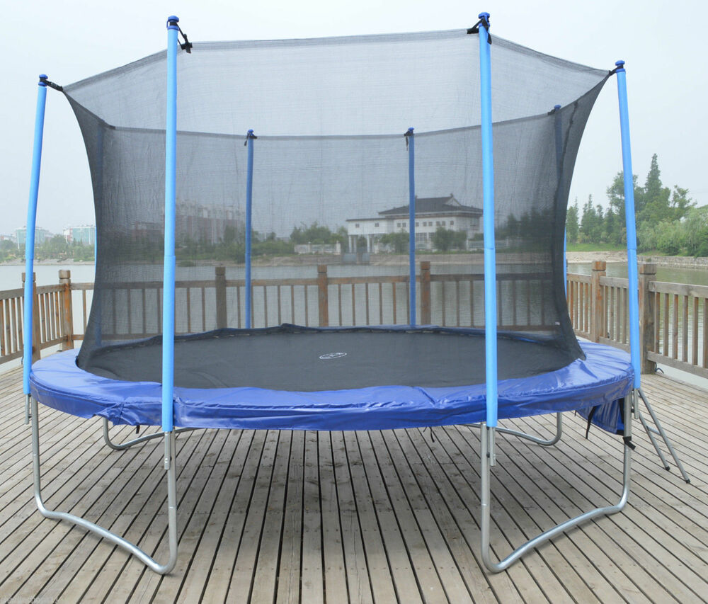 10ft Trampoline With Internal Safety Net Enclosure, Ladder
