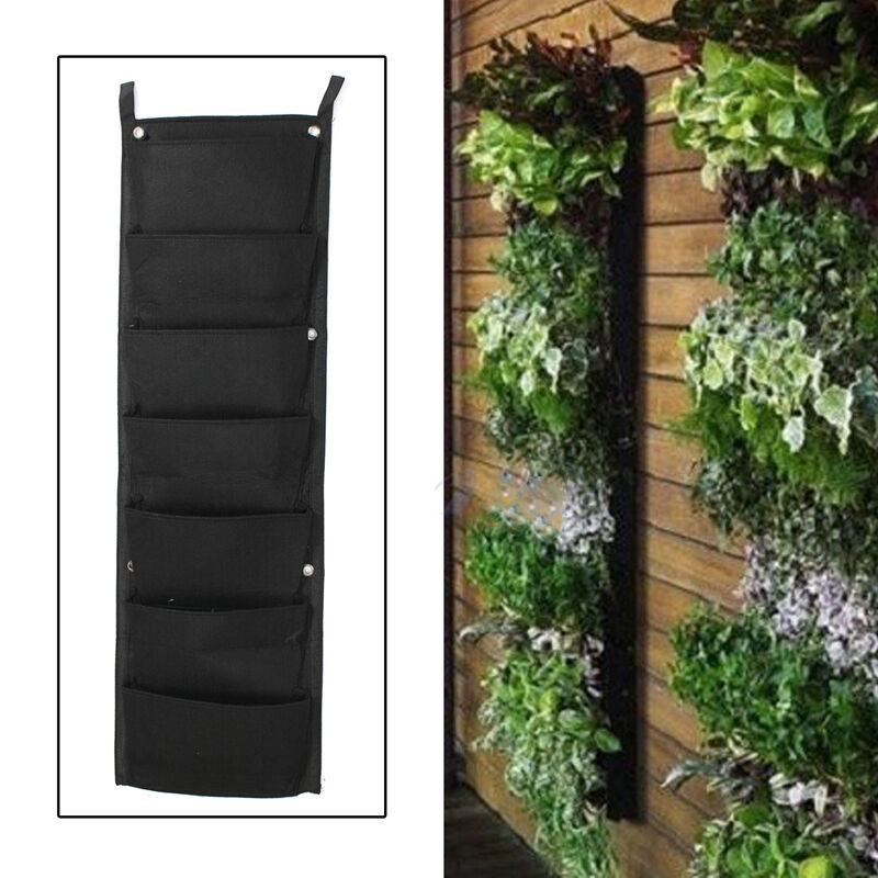 Outdoor Wall Hanging Decoration : Pocket hanging vertical garden planter indoor outdoor