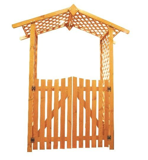 rosenbogen mit tor rankhilfe pergola mit t r laubengang ebay. Black Bedroom Furniture Sets. Home Design Ideas