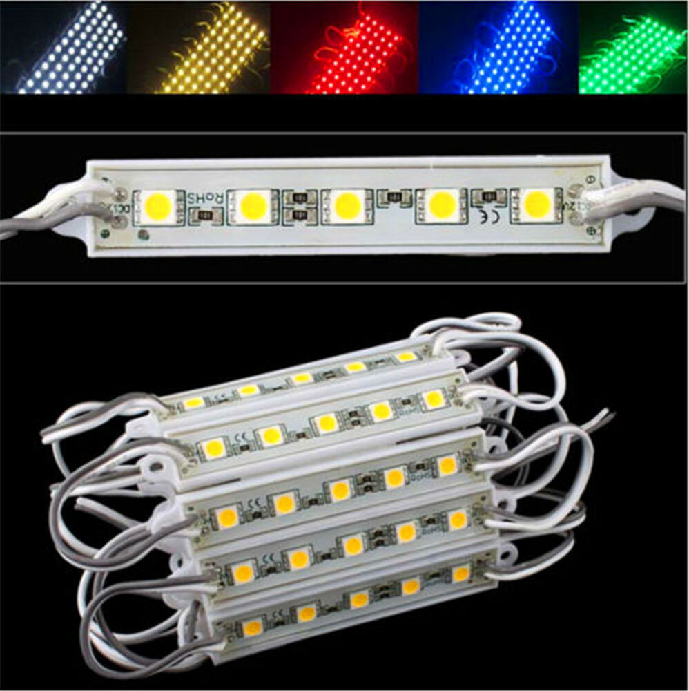 ip65 waterproof 20pcs smd 5050 led module 5 leds light 12v for advertising ebay. Black Bedroom Furniture Sets. Home Design Ideas