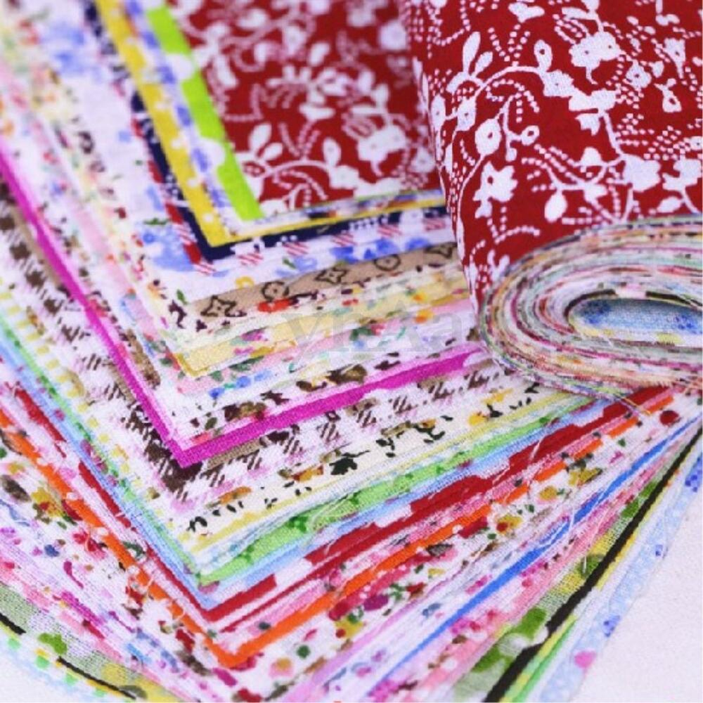 50pcs 10x10cm 4 squares fabric bundle patchwork clothing for Sewing fabric