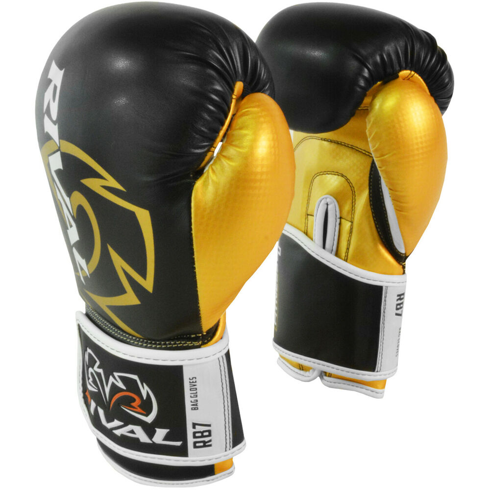 RIVAL RB7 BLUE FITNESS BOXING BAG GLOVES