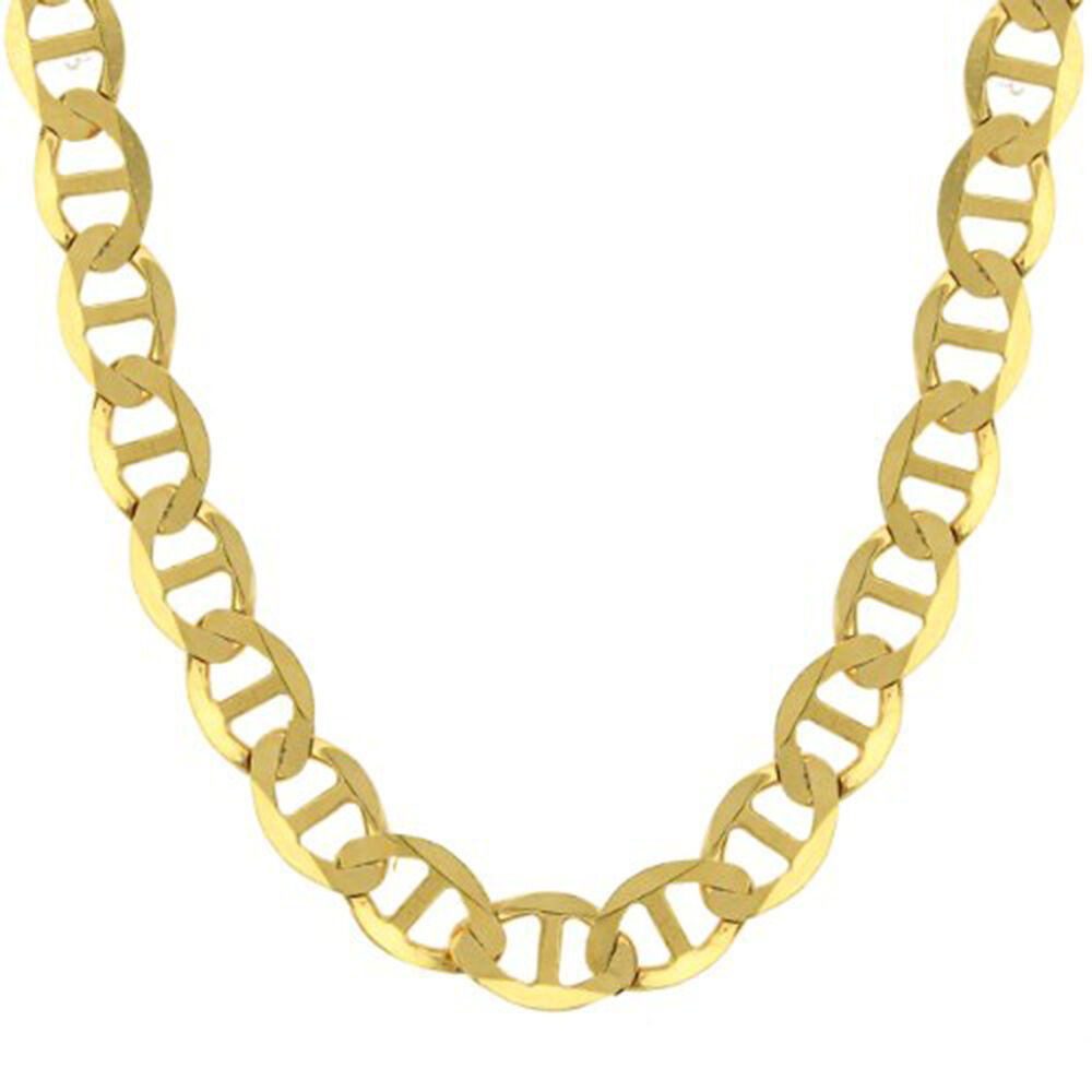 14k yellow gold chain flat mariner gucci necklace men. Black Bedroom Furniture Sets. Home Design Ideas