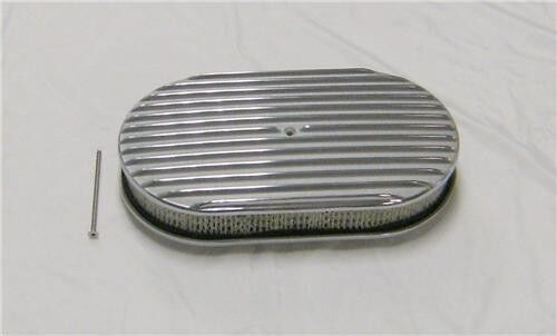 Nostalgia Air Cleaners : Quot full finned nostalgia polished aluminum oval retro air