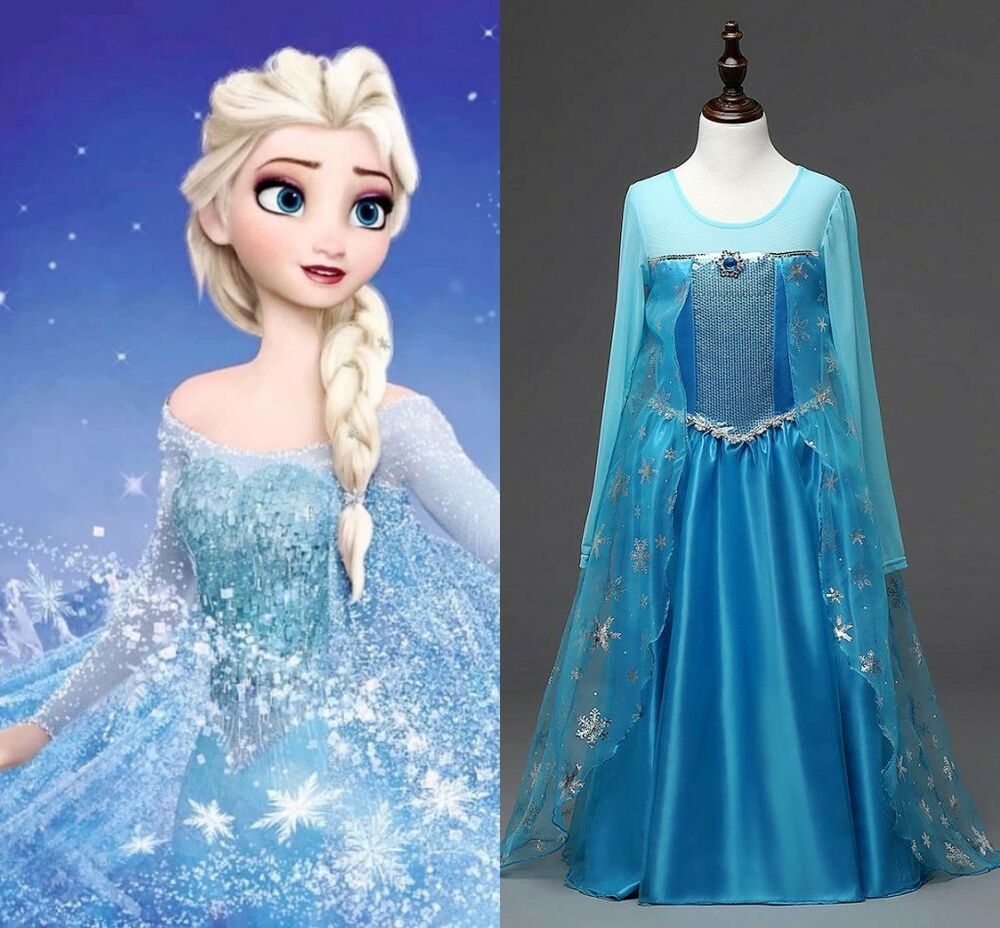 Kids girls clothes disney elsa frozen dress costume princess anna party dresses ebay - Frozen anna disney ...