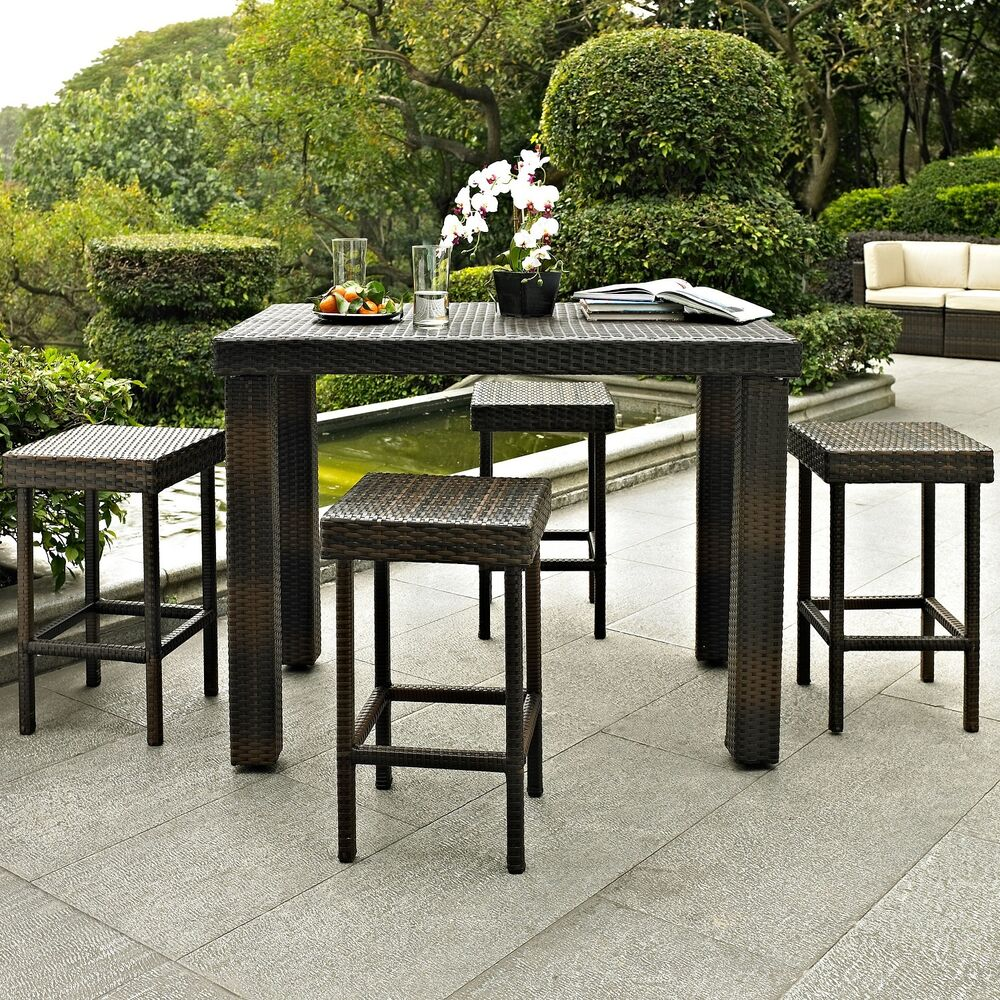 Patio Dining Set 5 pc Bar Height Garden Furniture Outdoor  : s l1000 from www.ebay.com size 1000 x 1000 jpeg 308kB