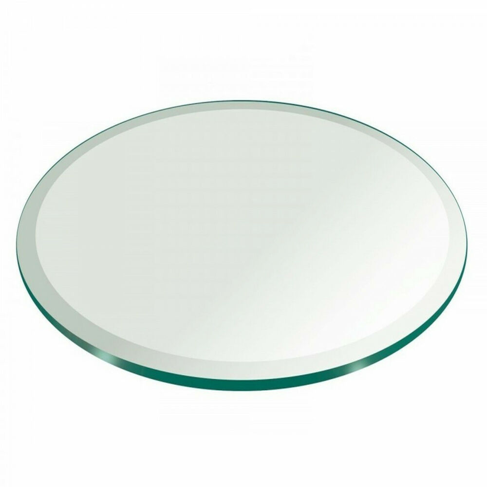 Glass Table Top 24 Inch Round 3 4 Inch Thick Beveled Edge Tempered