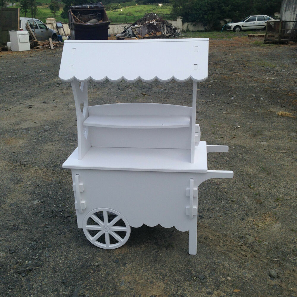 Candy Carts White Wedding Cart Sweet Cart Christening Cart